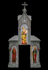 Altar-Kapelle-zusammengesetzt-mit-den-Statuen-teileingebunden